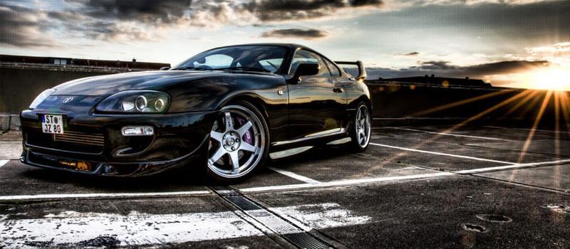 черный автомобиль toyota supra black car скачать